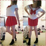 9 Colors Cosplay Costume Sailor Collar School Uniform Set Super Stretch SP140364 - SpreePicky  - 11