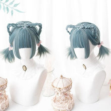 Load image into Gallery viewer, Green Lolita Mixed Color Short Wig SA0021