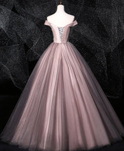Load image into Gallery viewer, Dark Pink Tulle Lace Long Prom Dress Tulle Lace Evening Dress - DelaFur Wholesale