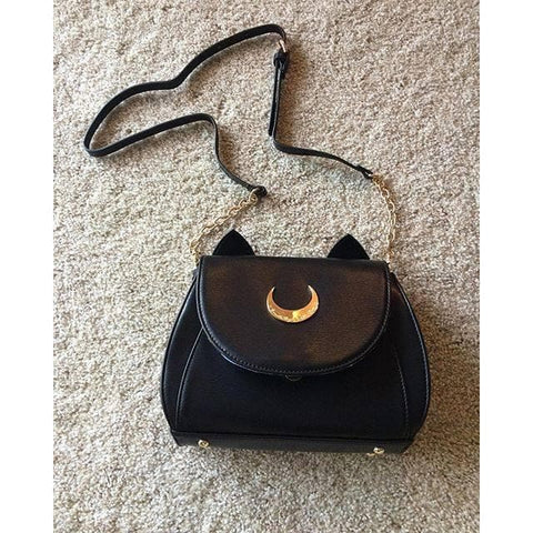 White/Black Sailor Moon Luna/Artemis Shoulder Bag High Quality Version SP152413 - SpreePicky  - 15