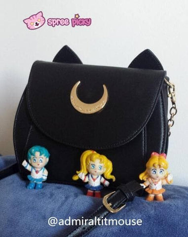 White/Black Sailor Moon Luna/Artemis Shoulder Bag High Quality Version SP152413 - SpreePicky  - 17