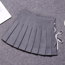 Load image into Gallery viewer, 6 Colors Pastel Ribbon Pleated Skirt S12704