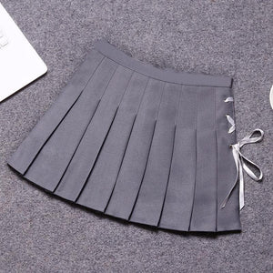 6 Colors Pastel Ribbon Pleated Skirt S12704