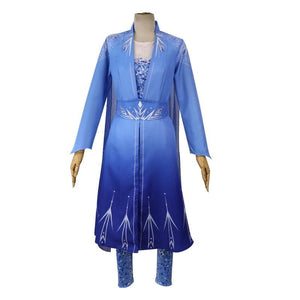 Elsa New Cosplay Costume Snow Dress SS0107