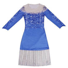 Load image into Gallery viewer, Elsa New Cosplay Costume Snow Dress SS0107