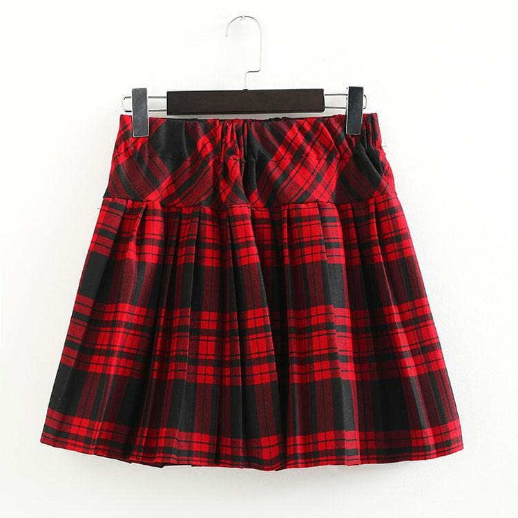 S-3XL Uniform Pleated Skirt SP154547 - SpreePicky  - 13