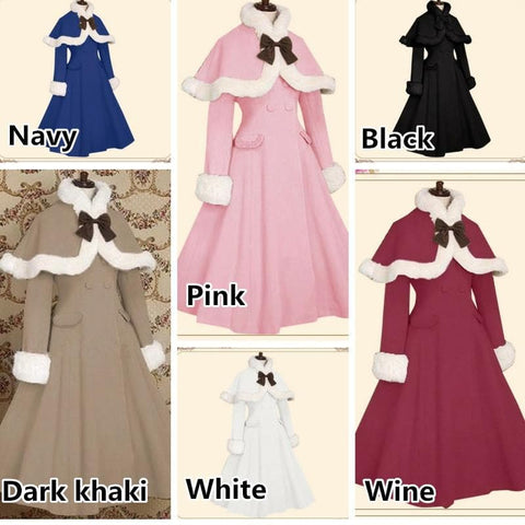 11 Colors Fluffy Lolita Cape Coat SP1711437