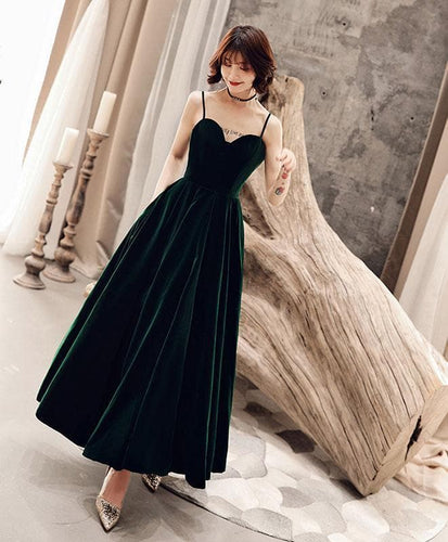 Simple Green Short Prom Dress, Green Bridesmaid Dress - DelaFur Wholesale