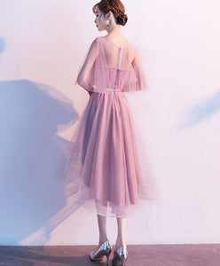 Pink Tulle Short Prom Dress, Pink Tulle Homecoming Dress - DelaFur Wholesale
