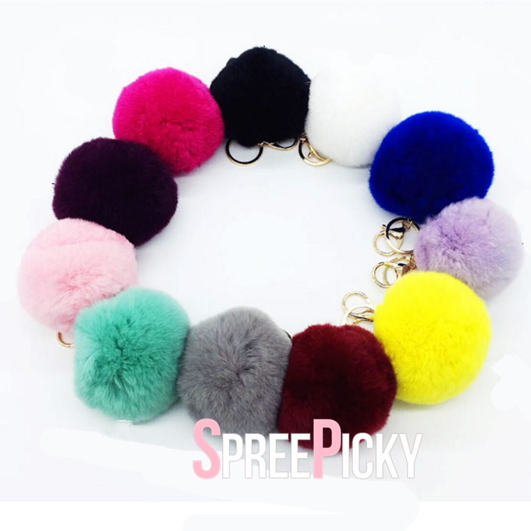 13 Colors Kawaii Fluffy PomPom Key Chain SP1710732