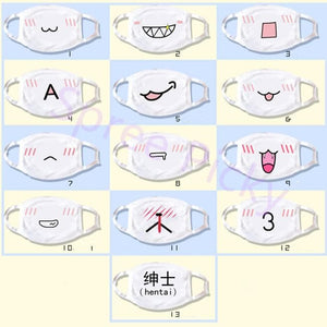 13 designs Emoji Emoticons Face Dust Mask SP141360 - SpreePicky  - 5