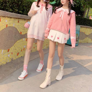 Pink/Yellow/White Sweet Wings Sweater Dress SP14609