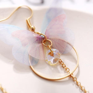 Fairy Yarn Butterfly Long Earrings SP14924