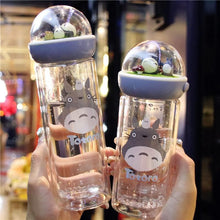 Load image into Gallery viewer, Kawaii Totoro Microlandscape Glass Water Bottle SP11653