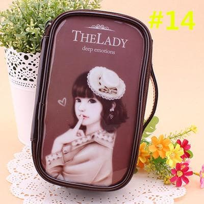 24 Patterns Cutie Girl Cartoon Cosmetic Storage Bag SP153063 - SpreePicky  - 17