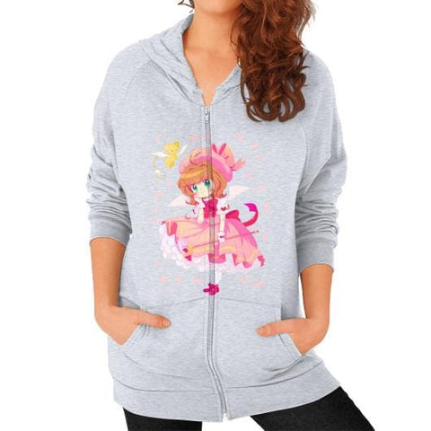 Wonderful Sakura Zip Hoodie (on woman) - SpreePicky  - 5