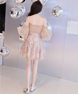 Champagne Tulle Short Prom Dress, Champagne Tulle Homecoming Dress - SpreePicky FreeShipping