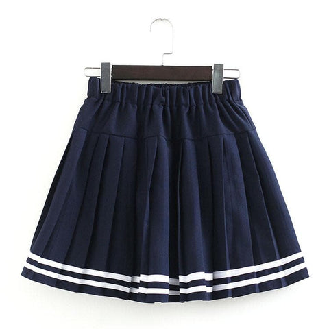 S-3XL Uniform Pleated Skirt SP154547 - SpreePicky  - 19