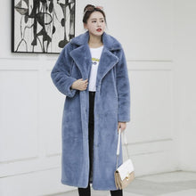 Load image into Gallery viewer, Winter Faux Fur Long Fluffy Jacket Coat SP15107