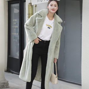 Winter Faux Fur Long Fluffy Jacket Coat SP15107