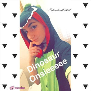 S-XL Unisex Green Dinosaur Animal Summer Onesies Kigurumi Jumpersuit Nightwear Pajamas SP152039 - SpreePicky  - 8