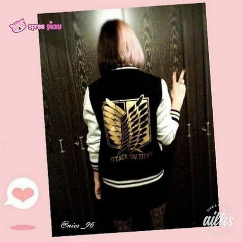 Attack On Titan The Survey Corps Wing of Liberty Black Jacket SP141594 - SpreePicky  - 6