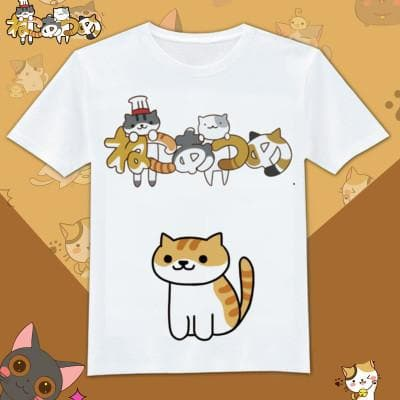 Neko Atsume Kawaii Cat Couple T-Shirt SP1710615 Page2