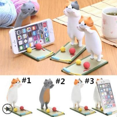 Neko Atsume Playing Cat Phone Holder SP1711128