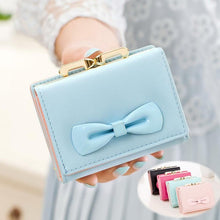 Load image into Gallery viewer, 8 Colors Cutie Bowknot Short Wallet Purse SP153528 - SpreePicky FreeShipping