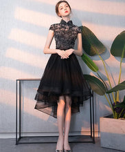Load image into Gallery viewer, Black Tulle Lace Short Prom Dress, Black Homecoming Dress - DelaFur Wholesale