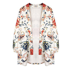 Load image into Gallery viewer, Flower Printing Kimono Coat SP1812585