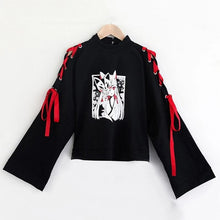 Load image into Gallery viewer, Japanese Monster Fox Sweatshirt Skirt Set SP14712