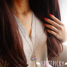 Load image into Gallery viewer, Blue/Red Galaxy Stars Pastel Moon Long Chain Necklace SP141541 - SpreePicky  - 7