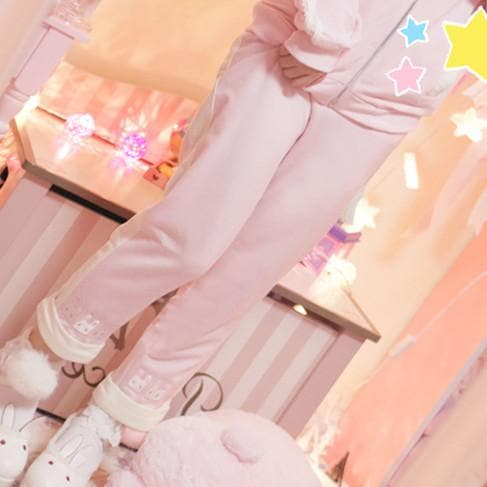 M/L Pink/Mint Bunny Sports Pants SP153095 - SpreePicky  - 1