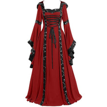 Load image into Gallery viewer, 4 Colors Gothic Lace-Up Maxi Dress SS054