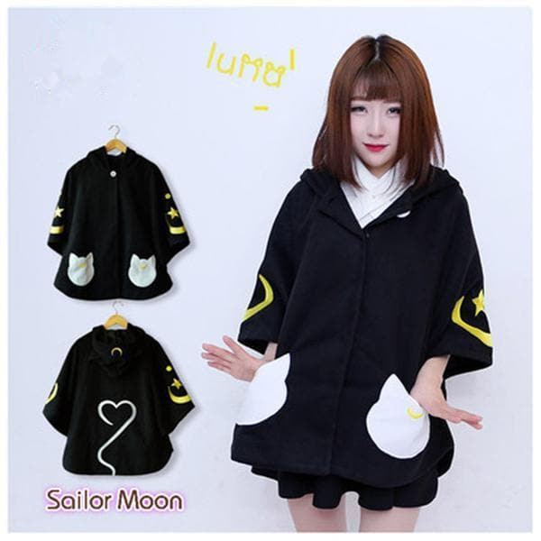 Anime Sailor Moon Luna Cat Lolita Style Coat SP168375