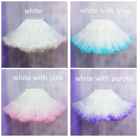 HIGH QUALITY Lolita Cosplay  Fluffy TUTU Dream Rainbow A shape Pettiskirt SP130218 - SpreePicky  - 4