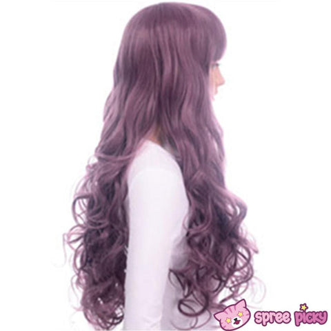 Harajuku Lolita Cosplay Dark Purple Curly Long Wig 27INCH SP130005 - SpreePicky  - 4