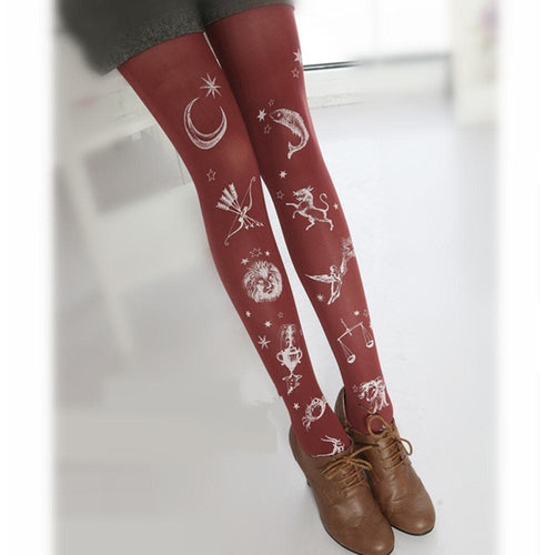 Constellation Pattern Tights SP153685 - SpreePicky  - 1