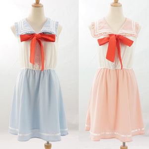 Pink/Blue Sailor Moon Cutie Sleeveless Dress SP152960 - SpreePicky
