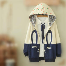 Load image into Gallery viewer, White/Beige Cutie Bunny Long Sleeve Jacket Coat SP153473 - SpreePicky  - 1
