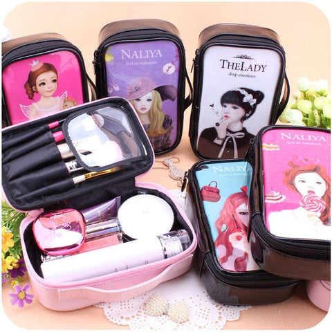 24 Patterns Cutie Girl Cartoon Cosmetic Storage Bag SP153063 - SpreePicky  - 1