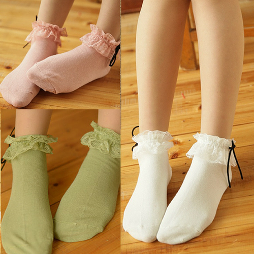3 Colors Mori Girl Kawaii Princess Socks SP165645
