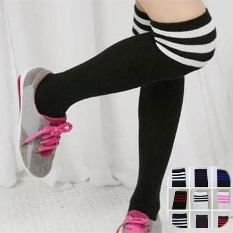 8 Colors Stripes Thigh High Over Knee Socks SP153576 - SpreePicky  - 1