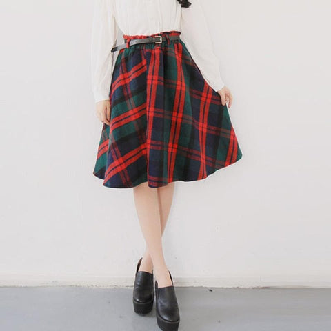 4 Colors England Grids Skirt SP154145 - SpreePicky  - 2