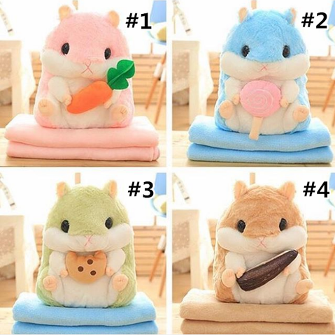 4 Colors Hamster Toy Bolster Bag Pendant SP178664