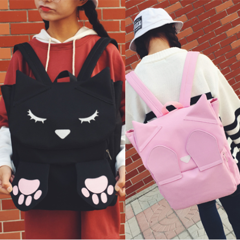 4 Colors Kawaii Kitty Paw Backpack SP178706
