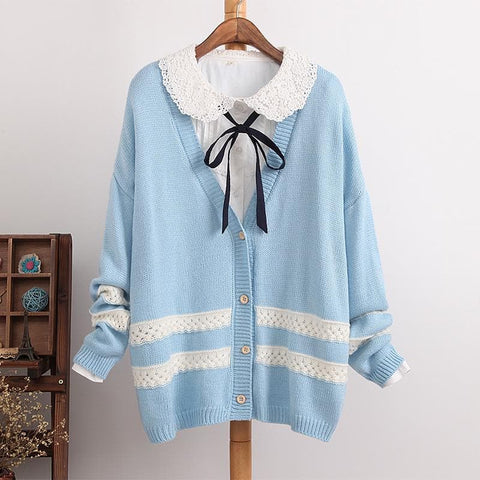 4 Colors Long Sleeve Cardigan Sweater Coat SP154450 - SpreePicky  - 2