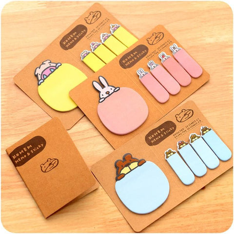 4 Colors Mori Girl Message Sticky Note SP153128 - SpreePicky  - 1
