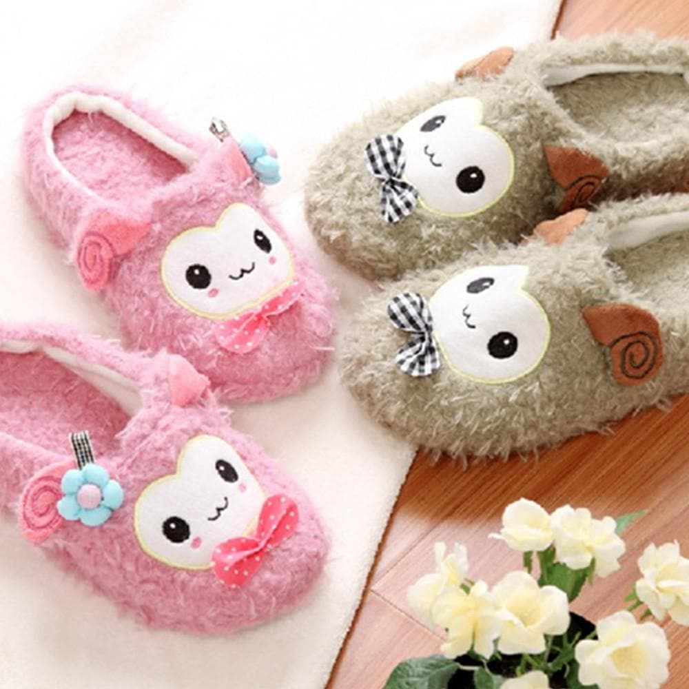 4 colors Kawaii Cutie Animal Alpaca Fleece Home Slippers SP153521 - SpreePicky  - 1